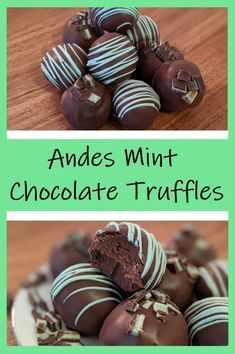 Andes Mint Chocolate, Chocolate Treats, Chocolate Recipes, Chocolate Truffle Recipe, Easy Chocolate Truffles, Easy Truffle Recipe, Truffle Dessert, Mint Desserts, Christmas Desserts
