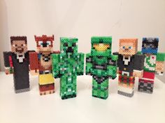 3D Minecraft Achievement Hunter Team by RetroNinNin  on deviantART