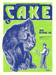 CAKE Mandrill Concert Poster - Arcata, CA on Behance