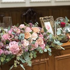 Banquet, Floral Wreath, Wreaths, Antiques, Pink, Wedding, Home Decor, Garlands, Mariage