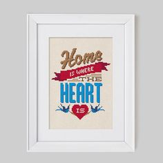 Home is where the heart is -  Cross Stitch Pattern (Digital Format - PDF)