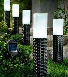 SoCreative Hand-woven Rattan Bollard Solar Light Pack of 5 Pathway Decoration Stake Light, Solar Garden Lights,Solar Pathway Lights,Solar Led lights - http://www.the-solar-shop.com/socreative-hand-woven-rattan-bollard-solar-light-pack-of-5-pathway-decoration-stake-light-solar-garden-lightssolar-pathway-lightssolar-led-lights/