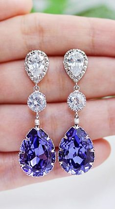 Beautiful Bridal Earrings from EarringsNation many colors to choose Bridesmiad Gifts