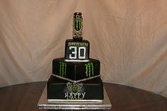 Monster Energy Drink Birthday Cake. I want one