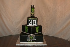Monster Energy Drink Birthday Cake. I want one