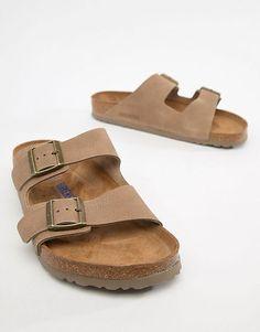 40284d4a1a6f Birkenstock Arizona SFB sandals in taupe leather Birkenstock Arizona