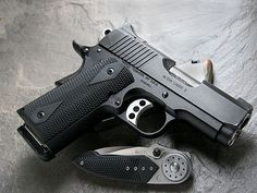 The Kimber Ultra Carry II, a compact 1911 that would feel right at home on your hip and in your holster.  Find a Kimber that suites your style @Sportsman's Outdoor Superstore #Kimber