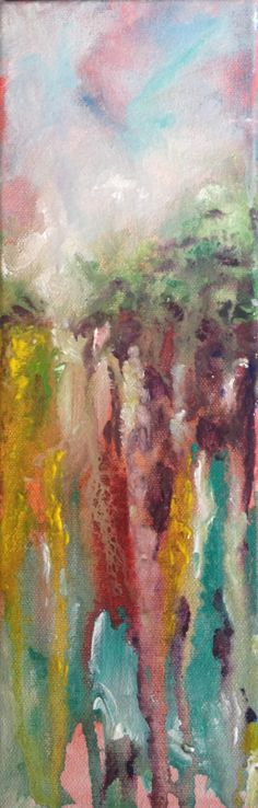 Memories of landscapes abstract acrylic landscape painting.