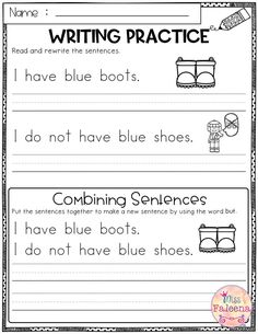 January Writing Practice (Combining Sentences).This product has 20 pages of sentence writing worksheets. This product will teach children to read, write and grammar.Children will learn coordinating conjunctions by using them to combine sentences. The conjunctions included are and, but, or. These pages are great for morning work, word work and literacy centers. Kindergarten | First Grade | Second Grade | Third Grade | Reading| Writing | Winter Writing Practice Name Writing Practice, Sentence Writing, Technology Lessons, Computer Lessons, Computer Lab, Third Grade Reading, Second Grade, Teaching Reading, Kindergarten Writing