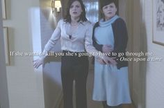 Snow & Regina  - Once Upon a Time  Makes me happy that they are mending their relationship. They're family!
