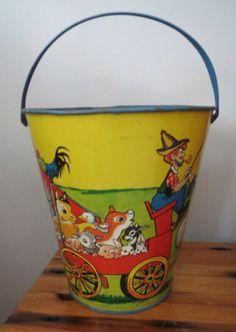 Vintage T. Cohn sand pail.