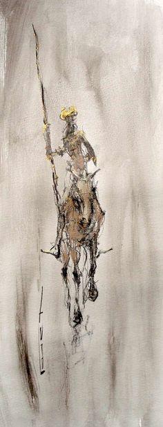 Don Quichotte Classic Paintings, Contemporary Paintings, Sketch Painting, Figure Painting, Tilting At Windmills, Man Of La Mancha, Dom Quixote, Don Miguel, Texture Painting
