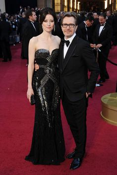 The 84th Annual Academy Awards    Alexandra Edenborough and Gary Oldman, in Paul Smith Bespoke, with a Piaget timepiece.
