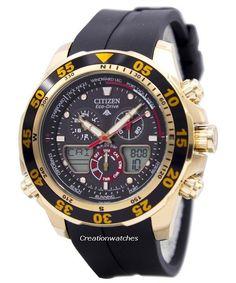 Reloj de Citizen Eco-Drive Promaster Cronógrafo mundo tiempo JR4046-03E JR4046 hombres