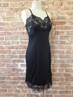 Vintage Nylon Black Full Slip - $25.00