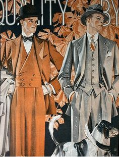 These fabulous Art Deco illustrations really do illustrate just how much thought and care went into 30s menswear.