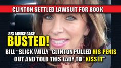 """As liberals lament over Trump's """"guy talk"""" on an 11-year-old tape, allow me to remind you about the sexual abuse lawsuit that Bill Clinton settled for $800k. He pulled out his penis and told a lady to KISS IT. Yep. """"KISS IT."""" Anyone outraged over THAT? Anyone? No? Ok. From the court testimony: The media won't discuss this. Hillary TRASHED Paul Jones. Like she's done to ALL OF BILL'S VICTIMS. Amy Moreno is a Published Author , Pug Lover & Game of Thrones Nerd. You can follow her on Twitter…"""