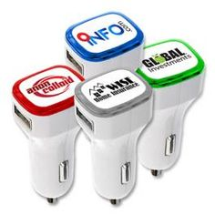 The custom USB Dual Car Charger is a great promotional item for your business. Our hi-power portable USB Car Charger is handy for on-the-go power demands. Juice TWO mobile devices at a time, from smartphones and tablets to iPhones and iPads via USB cable. Simply Add your custom logo to use as a unique promotional item. 4 color digital printing SPECIAL for only 1 cent!...From $7.02 ea.