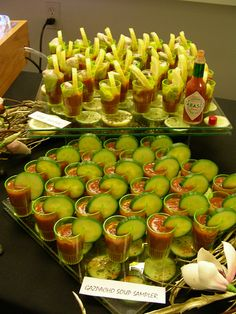 food displays   Small Food Shooters - small shooters food buffet display (click to ...