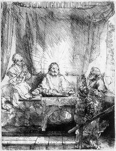 Rembrandt, Christ at Emmaus