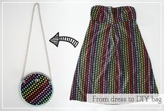 DIY: De vestido a bolso - From dress to bag   2nd Funniest Thing : DIY and unique pieces