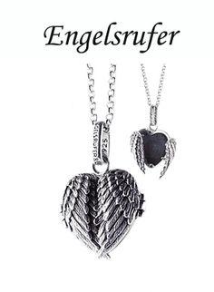 Engelsrufer locket Pandora Charms, Dog Tag Necklace, Charmed, Random, Bracelets, Pretty, Silver, Random Stuff, Bracelet