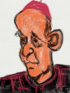 El Papa Francisco. Dibujo en iPad.
