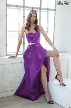 Make an impression they will never forget in the wowing Silvia dress. Purple Maxi, Strapless Dress Formal, Formal Dresses, Forget, One Shoulder, How To Make, Fashion, Dresses For Formal, Moda