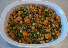 KITCHEN EXCURSIONS: Roasted Sweet Potato and Lentil Salad