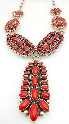 Old Pawn Sterling Silver Coral Necklace, Native American Jewelry, very nice. Ethnic Jewelry, Bohemian Jewelry, Turquoise Jewelry, Unique Jewelry, Western Jewelry, Southwest Jewelry, Southwestern Style, American Indian Jewelry, Coral Turquoise