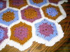 HEXIGAN Crochet Blanket and Shawl  Cuddle by nannycheryl original ID 677 (A) £45.00