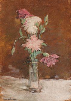 Stefan Luchian (luat de pe Facebook) Claude Monet, Carnations, Pink Flowers, Illustration, Paintings, Masters, Facebook, Twitter, House