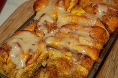 Pullapart pumpkin cinnamon bread