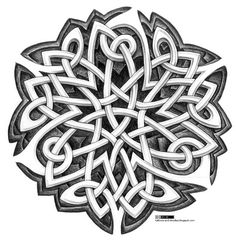 Tattoos and doodles: Celtic knotworks design
