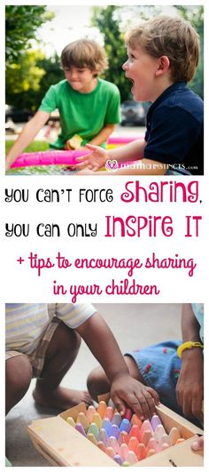 What do you do when all of a sudden 2 kids want the same toy? Forcing them to share is not the answer. Find out why and how to inspire sharing in your child. #parenting #positiveparenting #MamaInstinctsBlog
