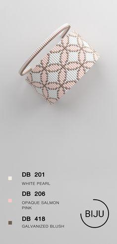 US$4.72 Loom bracelet pattern, loom pattern, miyuki pattern, square stitch pattern, pdf file, pdf pattern, cuff #34BIJU