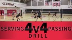 4 v. 4 serving and passing drill