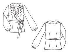 Блузка - выкройка № 121 из журнала 10/2011 Burda – выкройки блузок на Burdastyle.ru