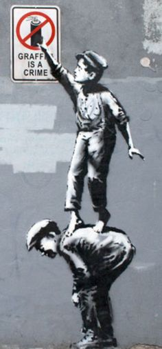 Banksy - Manhattan oct 1st - now cleaned off
