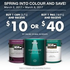 Special Offers & Rebates - Behr Products | Behr Paint