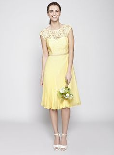 1f108f48a3e BHS Lemon Louisa Bridesmaid Dress Yellow Bridesmaid Dresses Uk