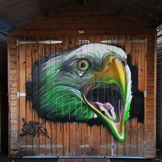 by Gnasher Graffiti Murals - London, UK