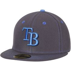 ee64bf7f545ef Men s Tampa Bay Rays New Era Graphite 2016 Father s Day 59FIFTY Fitted Hat  Tampa Bay Rays
