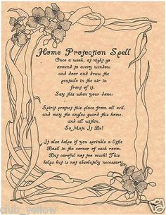 House Protection Spell Page Parchment for Book of Shadows BOS Pages Witchcraft