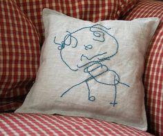 Transfer kids artwork onto fabric