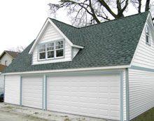 Custom Reverse Gable Garage with Gable Dormer Custom Garages, Dream Garage, Sky, Building, Outdoor Decor, Heaven, Buildings, Construction, Architectural Engineering