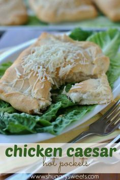Chicken Caesar Pockets from Shugary Sweets