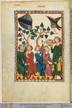 Cod. Pal. germ. 848: Große Heidelberger Liederhandschrift (Codex Manesse) (Zürich, ca. 1300 bis ca. 1340), Fol 308v