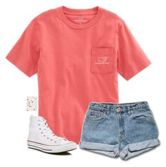 """"""""""" by laxsoccerlover36 ❤ liked on Polyvore featuring Vineyard Vines, Converse and Kate Spade"""