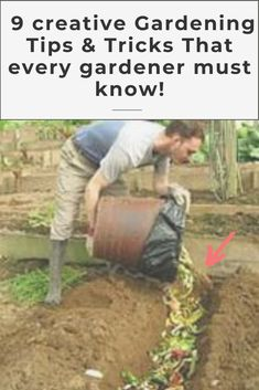 9 AWESOME DIY IDEAS FOR YOUR GARDEN garden ideas, gardening ideas, gardening for beginners, gardening design, gardening tools, gardening hacks, gardening and landscape, gardens and gardening ideas #gardening #gardenhacks #gardeningideas